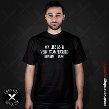 """Koszulka ze śmiesznym nadrukiem - idealna na prezent dla każdego """"zagorz..."""