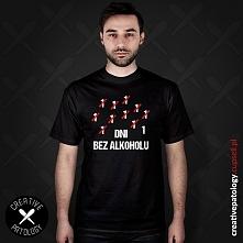 """Koszulka ze śmiesznym napisem """"Dni bez alkoholu"""". Idealna dla każde..."""