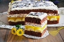 Ciasto jamajka biszkopt: 6 jaj (M) szczypta soli do białek 3/4 szklanki mąki ...