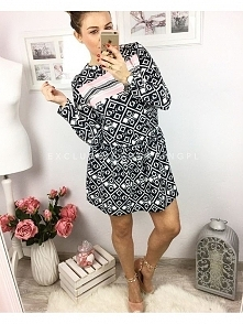 ES-S050 Sukienka LEA-Czarna