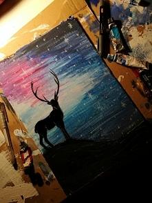 Może nie jest ładne, ale jestem z siebie dumna bo nie umiem malować farbami xDD