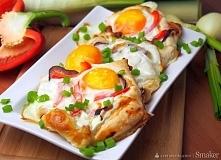 Jajka zapiekane w cieście f...