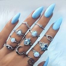 #paznokcie #niebieski #pier...