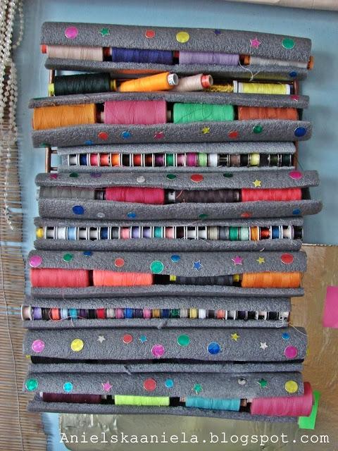 Jak przechowywać nici i szpulki Diy