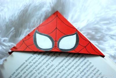 Zakładki do książki z motywem Batmana i Spider - Mana. Nowa instrukcja już na blogu! :)