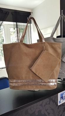 torebka skóra naturalna zamsz cekiny Fb/ Atelier Torebek wysyłka 24h