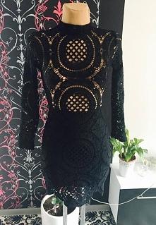sukienka czarna koronkowa real foto mohho.pl