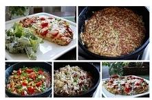 Placek ziemniaczany ala pizza ♥♥♥ Pyszny!!! Składniki: 8 ziemniaków, 1 cebula...