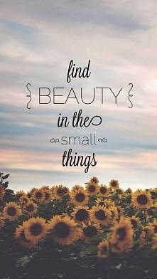 Znajdź piękno w małych rzeczach. ♥