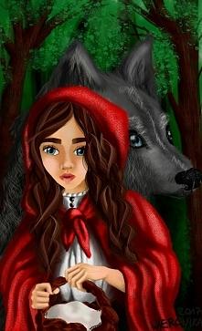 czerwony kapturek :) digital painting