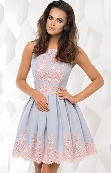 Bicotone 2119-03 sukienka szara Rewelacyjna sukienka, rozkloszowany fason, gó...