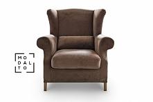 Fotel HARLOW Modalto Concept szerokie masywne siedzisko, poduszka lędźwiowa o...