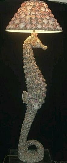 Konska lampa z muszel; )