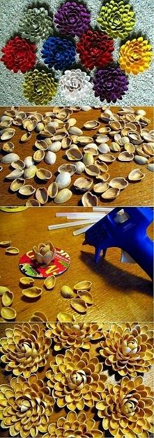 lubisz pistacje ... nie wyrzucaj łupin- zrób piękną dekorację.