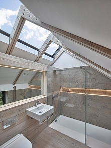 Łazienka z widokiem (proj. Donald Architecture)
