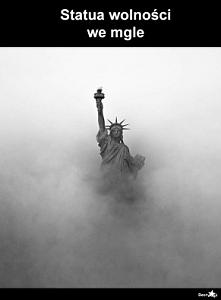 mgła + posąg =statua wolności