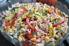 Sałatka ryżowa po wegiersku