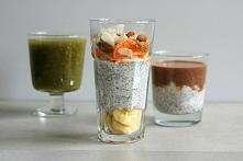 Chia pudding – składniki na 1 porcję: Nasiona chia możecie zalać dowolnym mlekiem roślinnym lub sokiem czy nawet zaparzoną zieloną herbatą. W przypadku mleka kokosowego, które j...