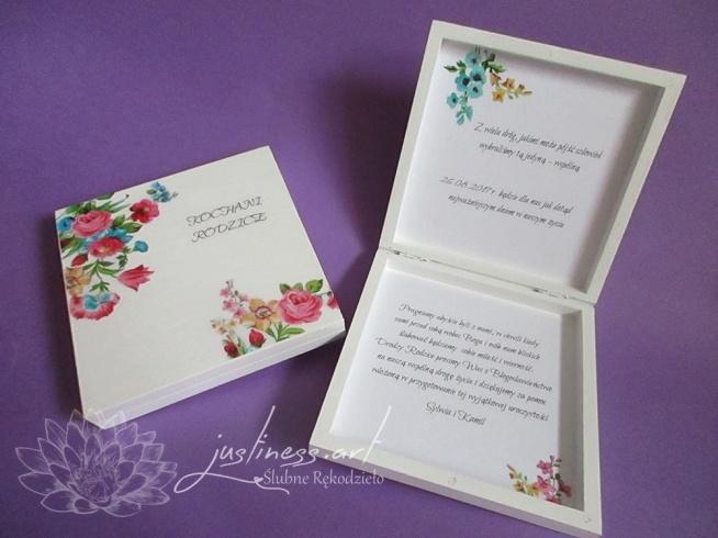 Pudełka Z Prośbą O Błogosławieństwo Dla Rodziców Na ślubne