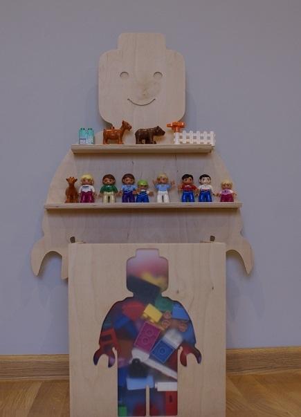 Ludzik Lego Na Klocki Półka Na Klocki Na Pomysły Zszywkapl
