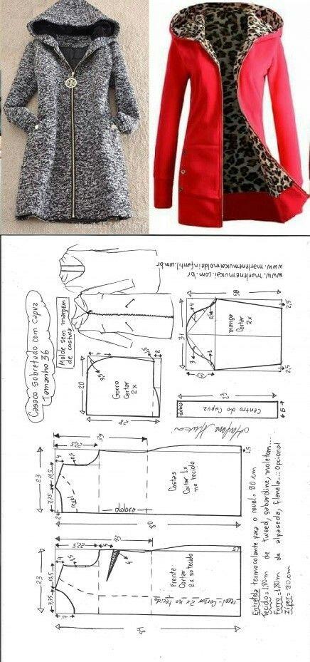 Płaszczyk/bluza + wykrój
