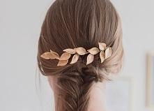 Przepiękne ślubne listki do wpięcia w ślubną fryzurę za pomocą wsuwek. Idealn...