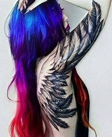 skrzydło tatuaż dla kobiety 2