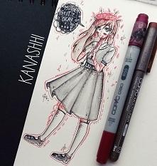 rysunek Kanoko należącej do @_little_artist_karochan_ <3