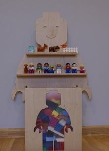 ludzik lego na klocki półka na klocki