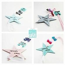 gwiazdka ... na Twoje spinki i opaski ... ozdoba która przyda się każdej dziewczynce ... idealna jako prezent ... mało kto ma coś podobnego