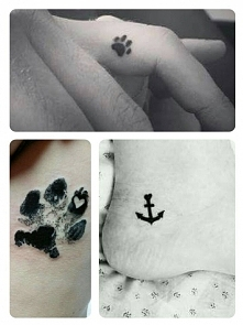 Cześć wszystkim, czy jest na Zszywce ktoś kto mógłby mi zaprojektować tatuaż psiej łapki na stopie, na kostce? Zależy mi na tym, aby tatuaż był mały.  Czekam na Wasze propozycje...