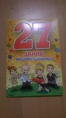 Kartka na 27 urodziny, 2016...