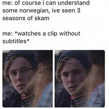 Hahaha tak to ja :D  Jak kończę sezon to mój mózg próbuje mówić po Norwesku :D
