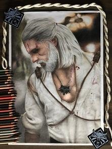 Geralt of Rivia/Maul Cosplay format A3 Kredki FC Polychromos