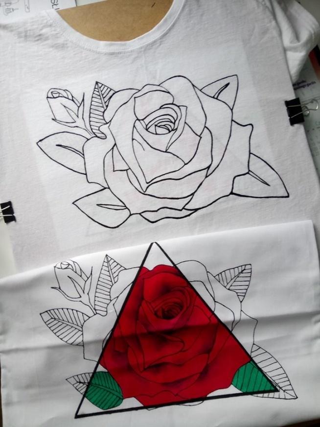 Koszulka z poszewka ręcznie malowane :) Zapraszam na fb: luludiy :)