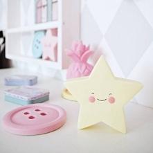 Lampka LED Gwiazdka żółta idealna podczas zasypiania dziacka