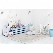 Dywan dla dzieci do prania w pralce Tricolor Stars Vanilla Lorena Canals