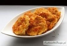 Placuszki z kurczakiem i serem żółtym