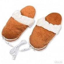 Kapcie grzejące na USB -  - idealny prezent dla mamy, siostry, babci, żony. K...