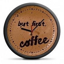 Zegar Kawosza Coffee Kawa But first coffee - idealny prezent dla osób nie wyo...