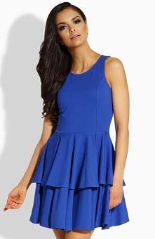 Lemoniade L199 sukienka chabrowa Kobieca sukienka, wykonana z gładkiej i jednolitej dzianiny, góra dopasowana
