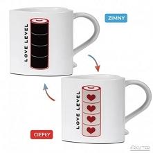 Termoaktywny kubek zmieniający kolor - Bateria Miłości - idealny na prezent d...
