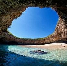 Ukryta plaża w Meksyku :)