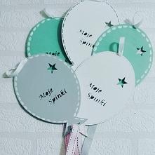 wieszaki na spinki i opaski w kształcie balonów ... praktyczny prezent dla dziewczynek