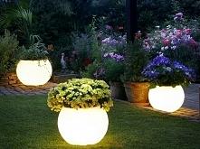 Świecące kule - dekoracja ogrodowa, którą można wykorzystać na wiele sposobów...