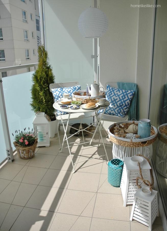 Balkon w stylu hampton z homelikeilike.com