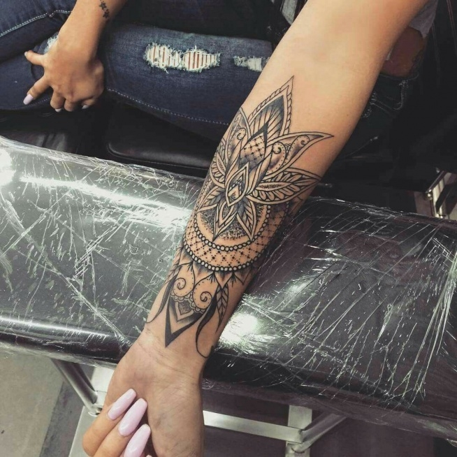 Kwiat Lotosu W Połączeniu Z Mandalą Na Tatuaże Zszywkapl