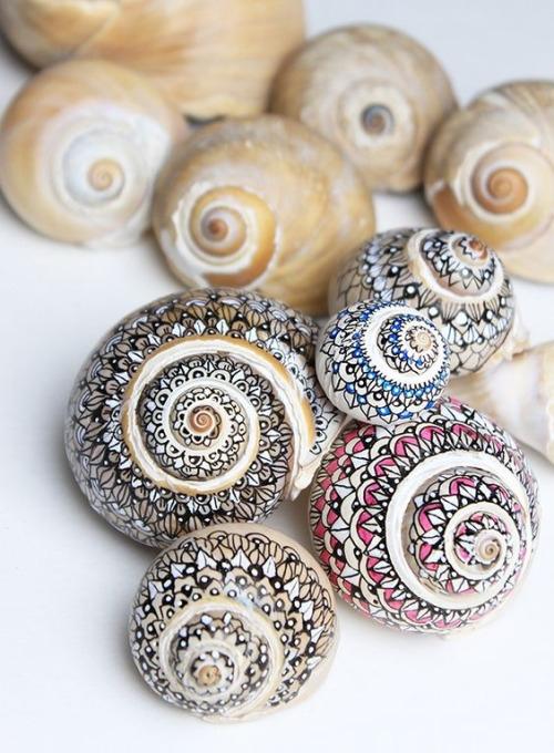 Malowanie mazakami muszelki ślimaków. Ozdabiamy rośliny domowe :)