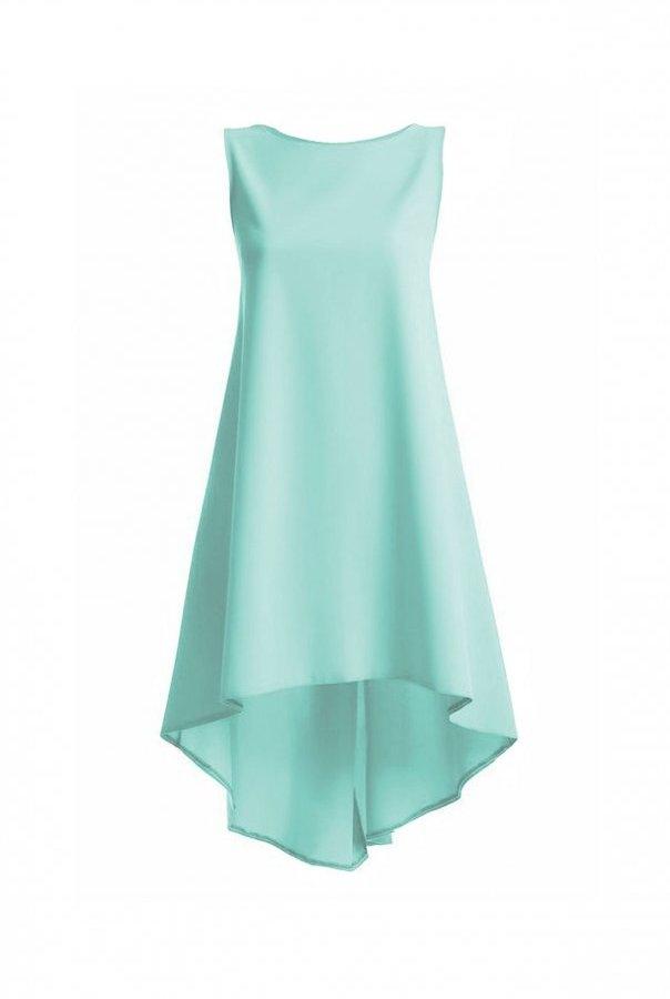 Cudowna miętowa sukienka od IVON prosty minimalistyczny fason  ivon-sklep.pl