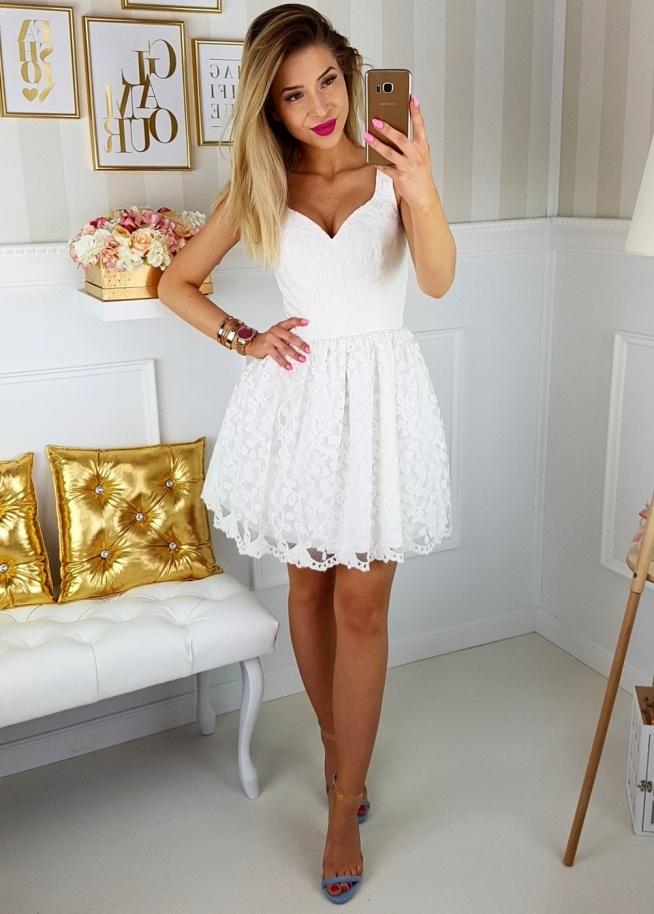 Koronkowa biała sukienka Illuminate